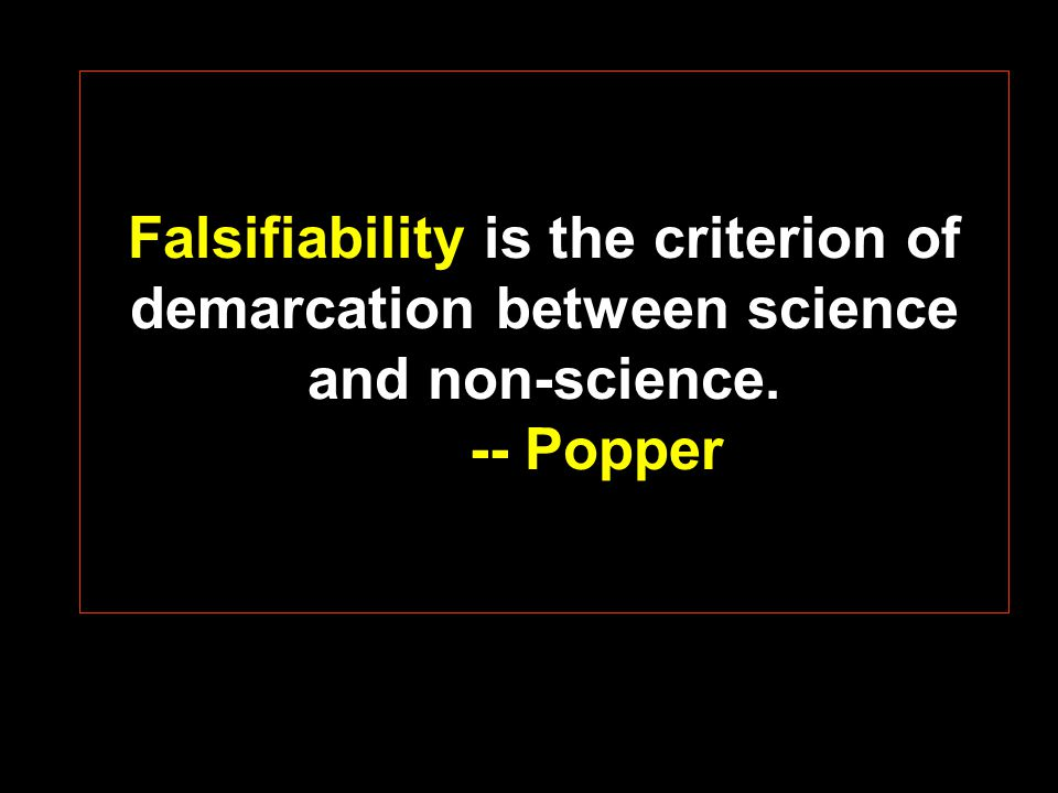 Other important contributions of Popper: Strongly asserted the now widely accepted view that hypotheses can never be conclusively proved, only disproved.
