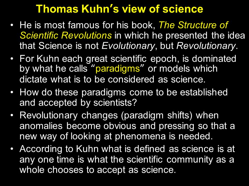 A paradigm is a (temporarily) accepted basis of a discipline Generally accepted schema for selecting and solving problems Basic assumptions and also explanations Thomas Kuhn, Die Struktur der Wissenschaftlichen Revolution, 1962 Paradigm