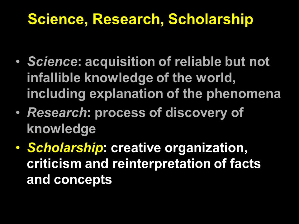 Scholarship is the application of systematic approaches to the acquisition of knowledge through intellectual inquiry.