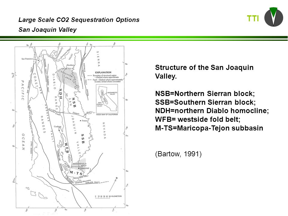 TTI Large Scale CO2 Sequestration Options San Joaquin Valley (DOGGR, 1998)