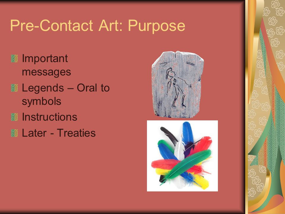 Pre-Contact Art Functional Clear Purpose Obvious messages