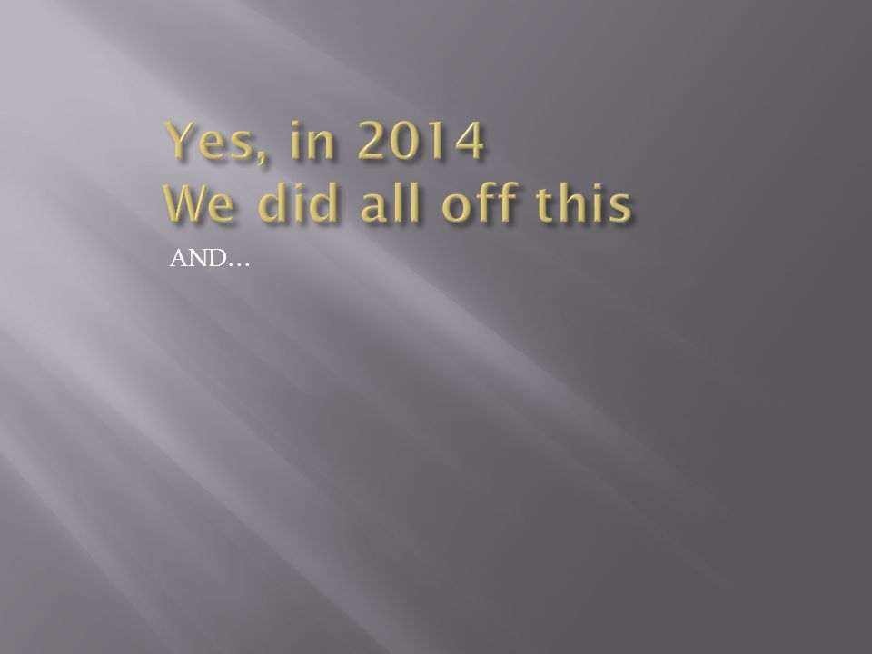 2014 was… and is… going to be a great year! Lessons from Geese