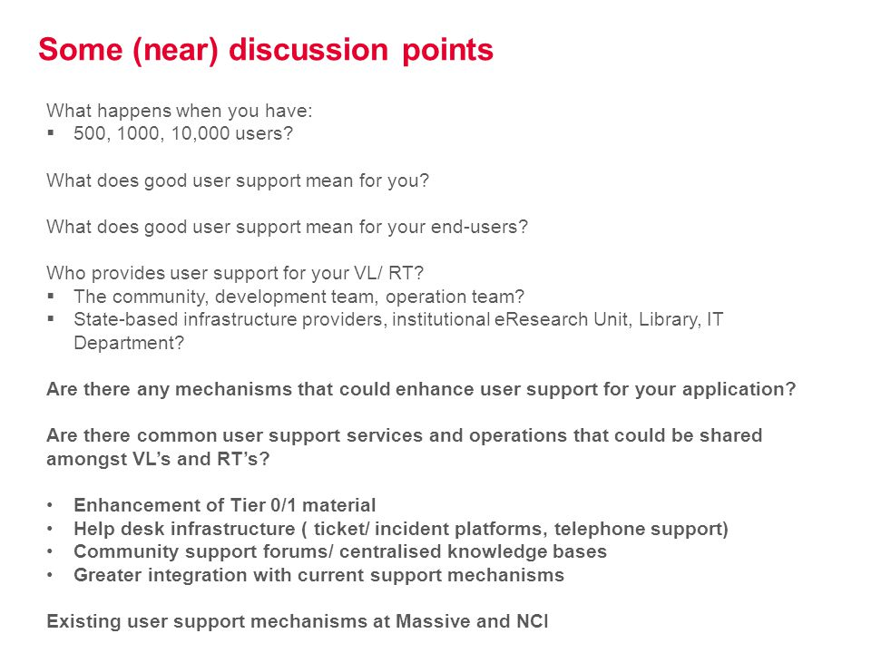 AeRO IT User Support Project Objectives 1.