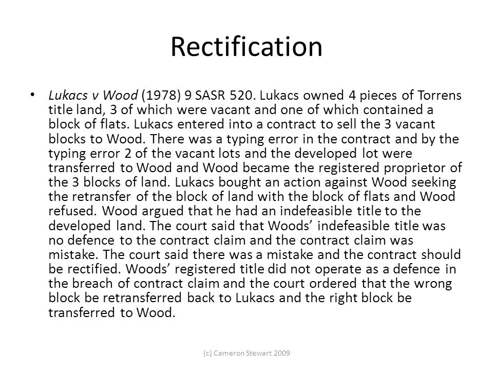Trusts for land A is a registered proprietor of land that is held on trust for B.