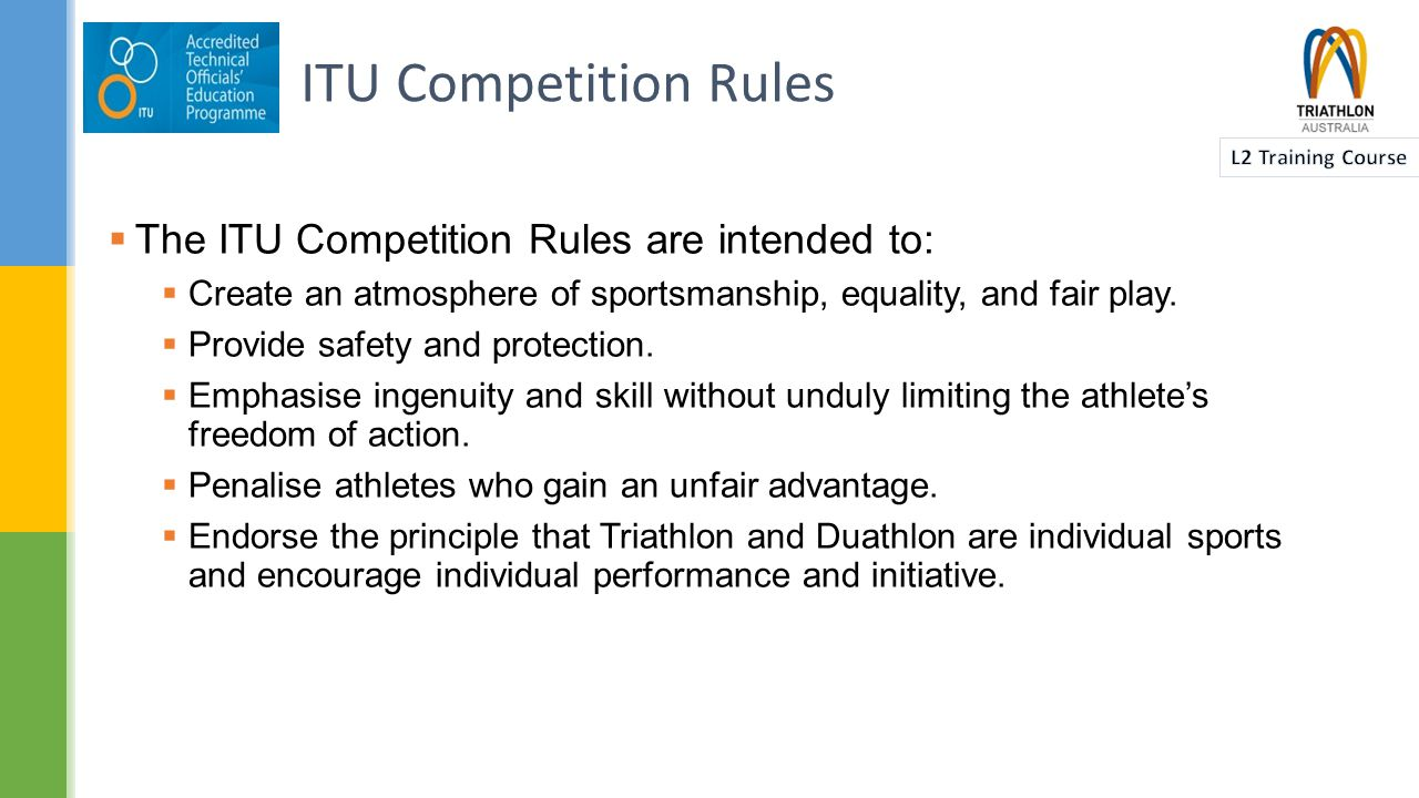  ITU Events have a high level of deliverables and therefore have procedures in place to address this.