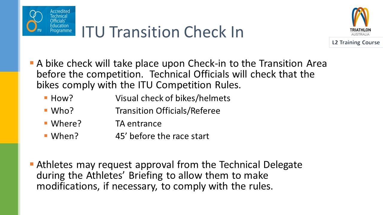  In general, UCI rules will apply:  UCI road race rules for draft legal triathlon and duathlon races.