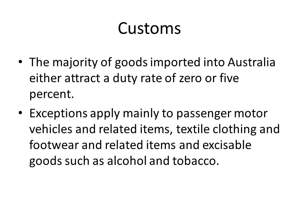 Customs Calculating import duty
