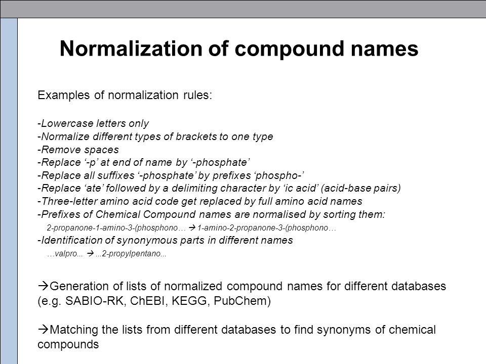 Analysis of compound names