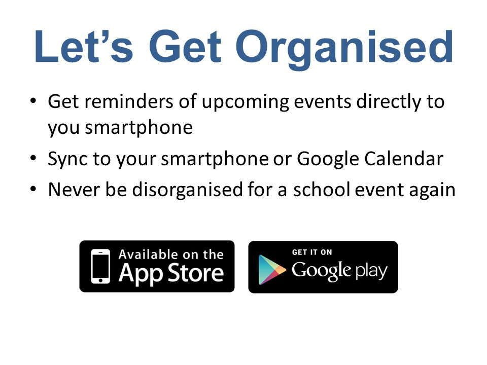 Downloading the App To download the app is FREE Just search for in your App Store To unlock the potential of app costs $1.99 per family per year via an in-app purchase Allowing you to sync to your calendar and receive notifications of upcoming events