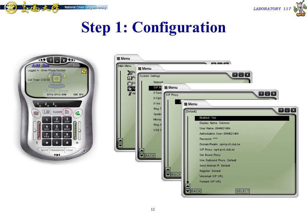 12 TAC2000/2000.7 LABORATORY 117 Step 2: Make/Receive Calls  Automatically send a REGISTER request to registrar when the program starts up.