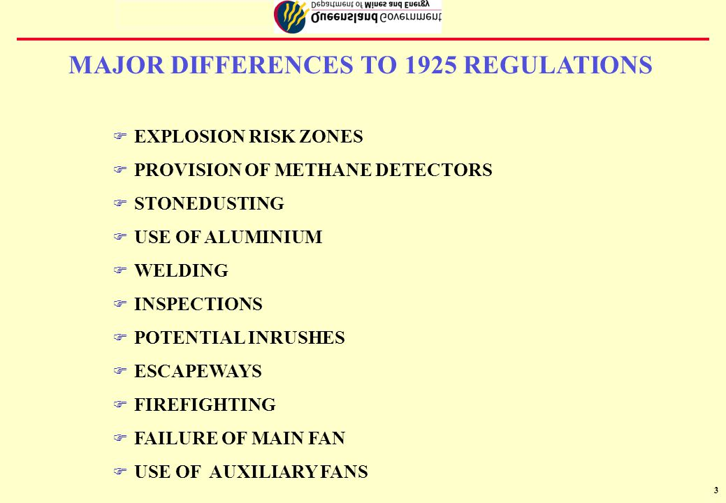 4 Risk assessment required to determine location and types of Explosion Risk Zones uTYPES PERZ0 - l any place where methane is or could be greater than 2% PERZ1 l any place where methane is or could be between 0.5% and 2% PNERZ l any place where methane is less than 0.5% EXPLOSION RISK ZONES