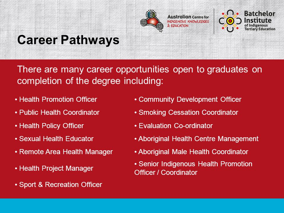 Many of these positions are available in both Government and Non-Government Agencies and can be based in urban, rural and some remote communities.
