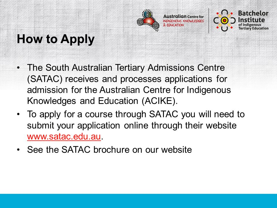 Most people know that the usual way of gaining entry to a university course is to study a Year 12 program, however there are other ways of getting into the course including: Special Tertiary Admissions Test Complete a TAFE/VET Certificate IV or Diploma course Undertake a University bridging course Alternative Indigenous Entry Pathway Alternative Entry