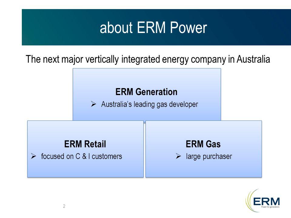 about ERM Power Australia's dominant new generation developer 3