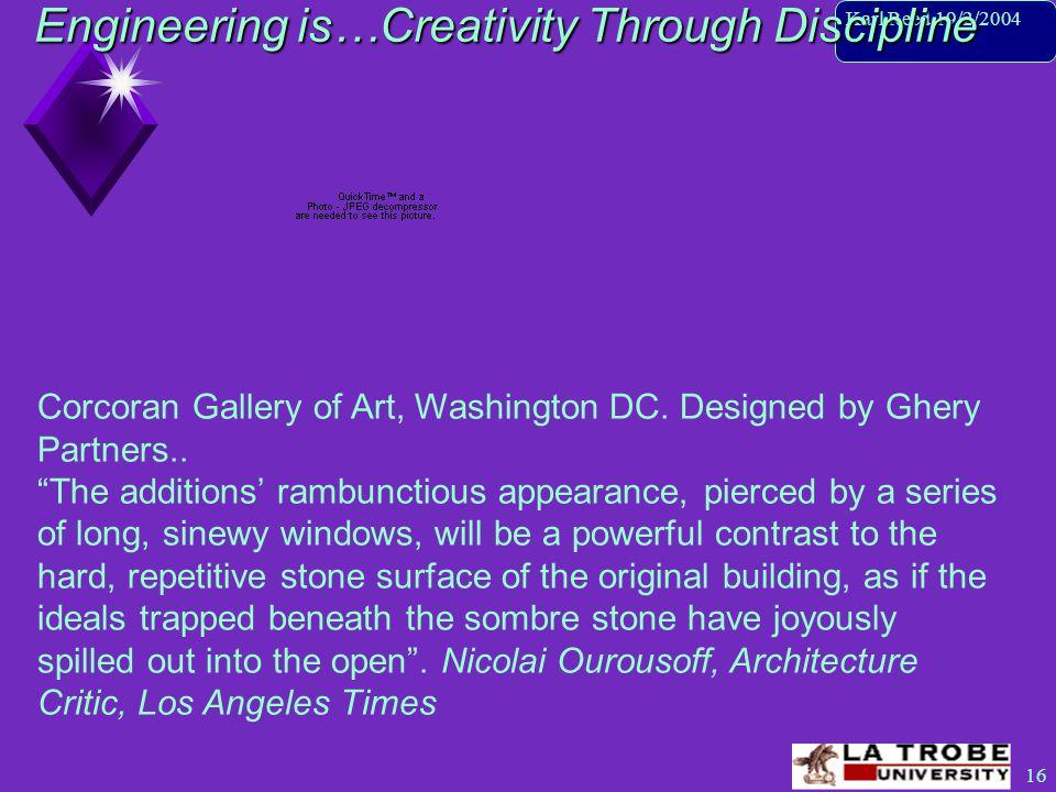 17 Karl Reed 19/2/2004 Engineering is…Creativity Through Discipline Yokahama International Port Terminal-First Prize byAlejadro Zeara-Polo & Fashid Moussavi