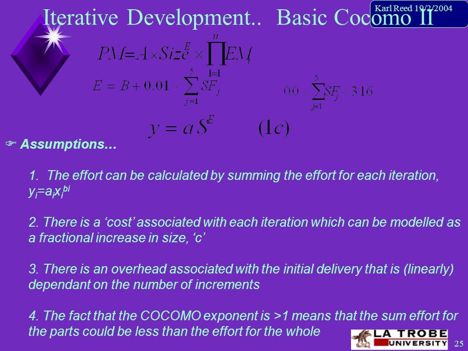 26 Karl Reed 19/2/2004 Iterative Development..The basic idea  Approach...