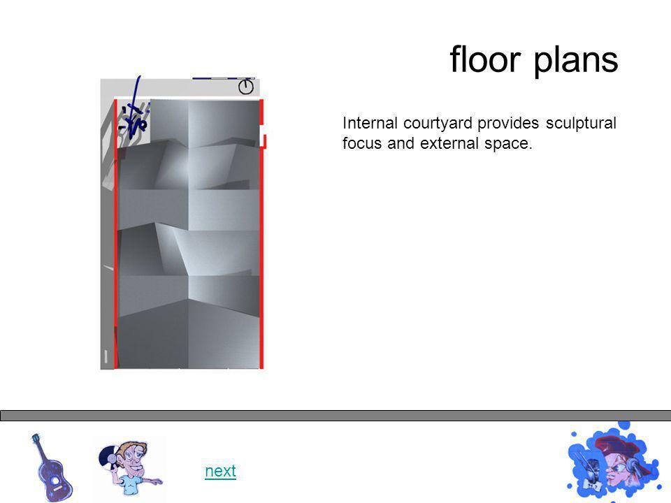 floor plans next Folding glazed doors separate inside and outside.