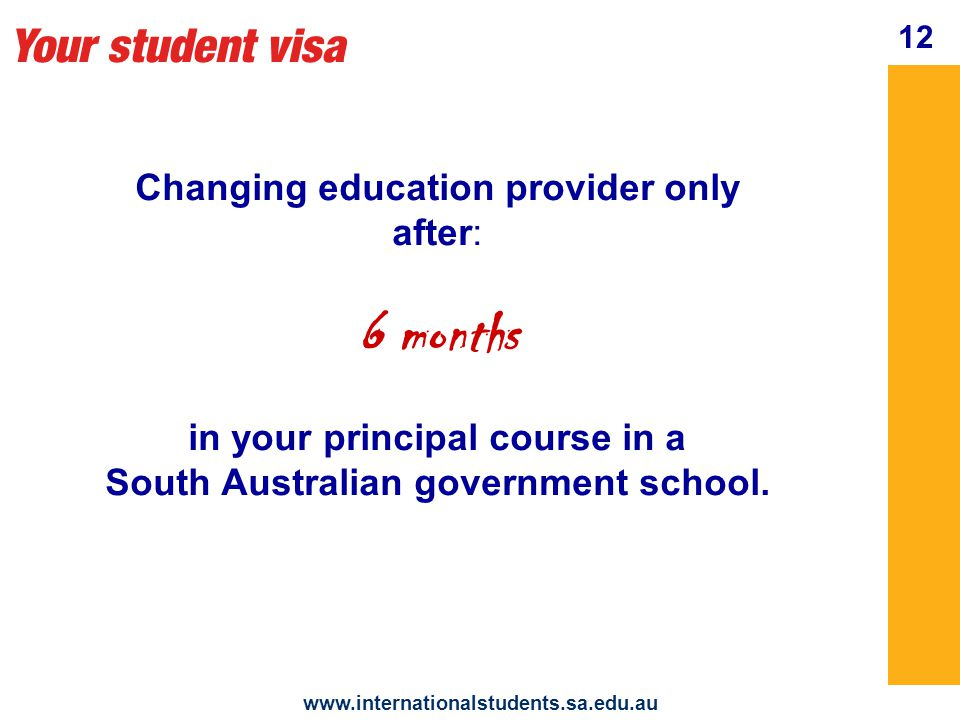 Your student visa www.internationalstudents.sa.edu.au Changing homestay family: IES approval is needed A change of homestay fee may apply 13