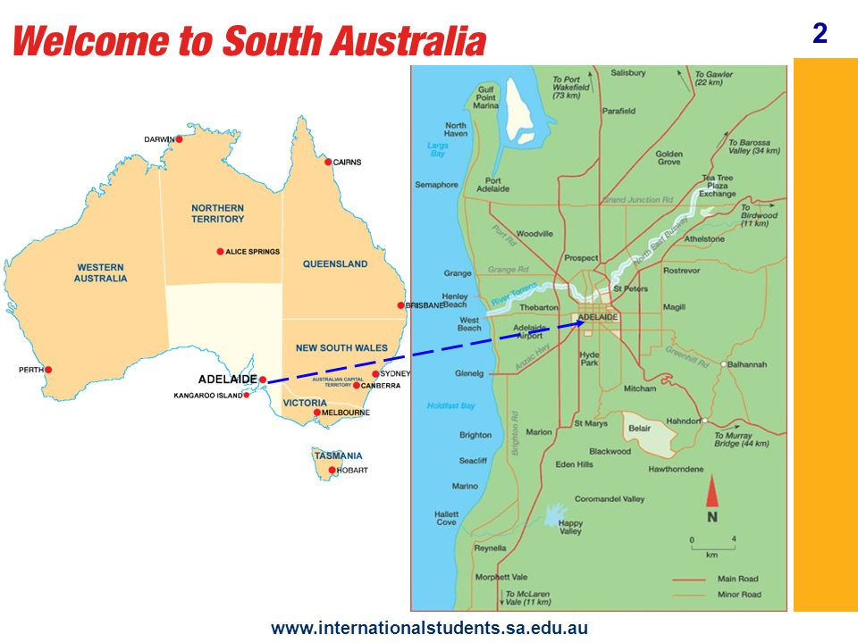 Welcome to South Australia www.internationalstudents.sa.edu.au Enjoy the South Australian way of life shopping sports friends 3 culture