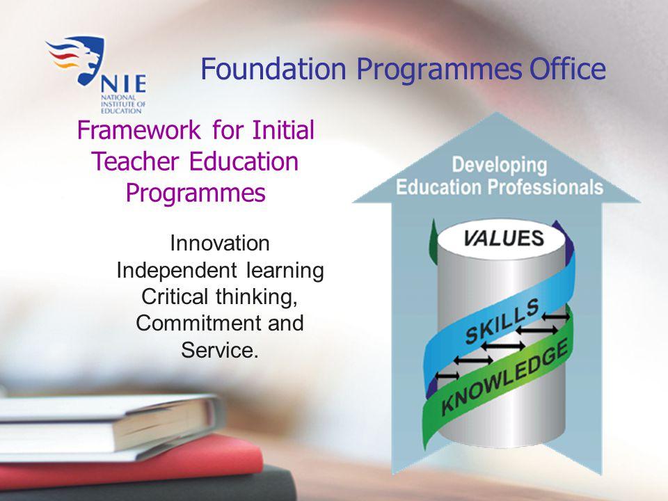 ProgrammeLevel for Teaching Duration PGDE (Pri) PGDE (Sec) Primary Secondary 1 year (2 years for PE) BA (Ed) BSc (Ed) Primary Secondary 4 years Diploma in Education Primary2 years Initial Teacher Education Programmes