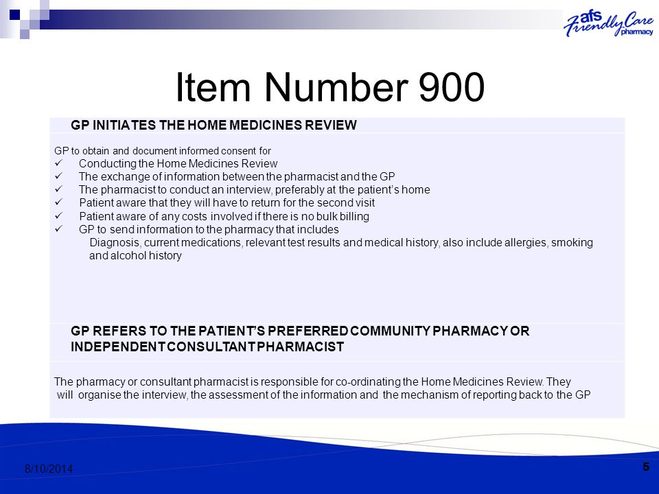 Item Number 900 REPORT AND DISCUSSION The accredited pharmacist will submit a written and verbal report.