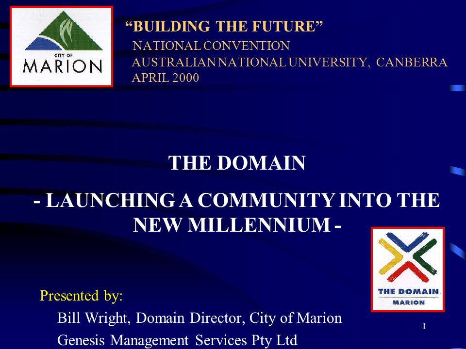 2 AIMS FOR THIS PRESENTATION 1.To describe the Domain Project –in current terms –in future terms as a regional catalyst for creating a new society in the new economy 2.