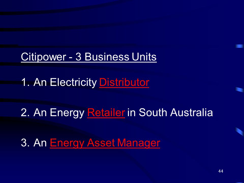 45 Energy Infrastructure Ownership & Management  Reduced Capital requirements  More energy efficient Design & Operation  Comprehensive maintenance  Improved long-term Asset Values  Single Point of Responsibility  Release of Management Time  Risk Transfer Energy Asset Management