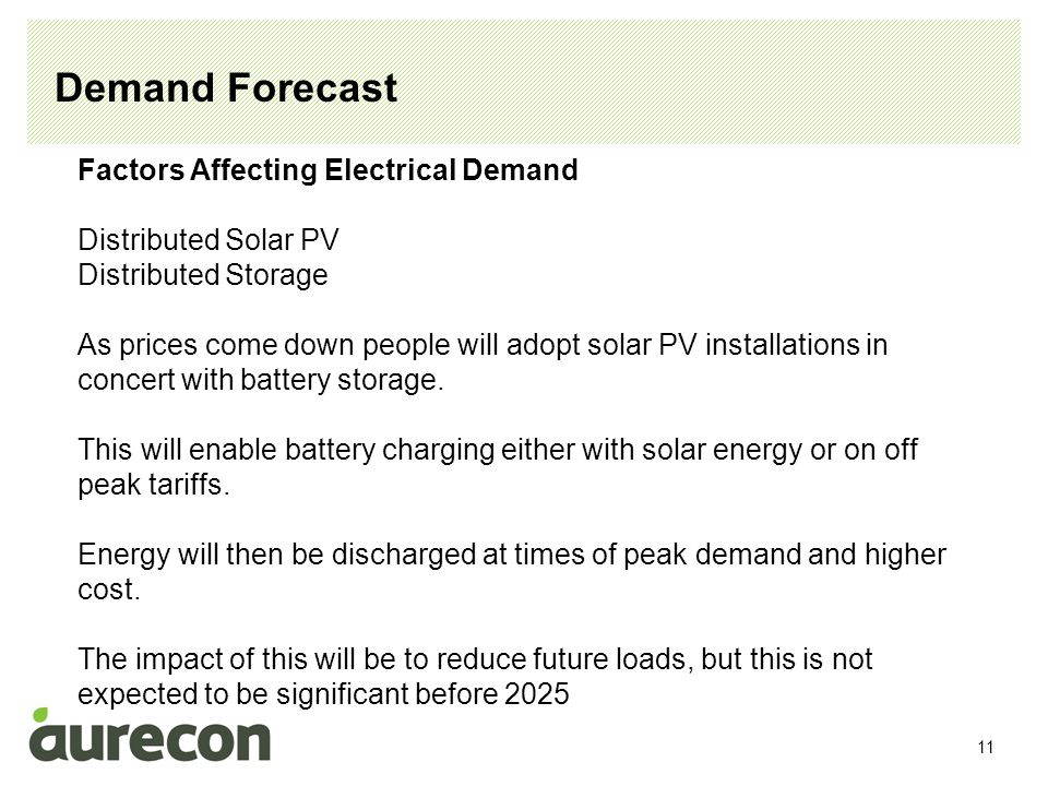 12 Demand Forecast Factors Affecting Electrical Demand Electric Cars Electric car charging will significantly increase household energy consumption and electrical demand.