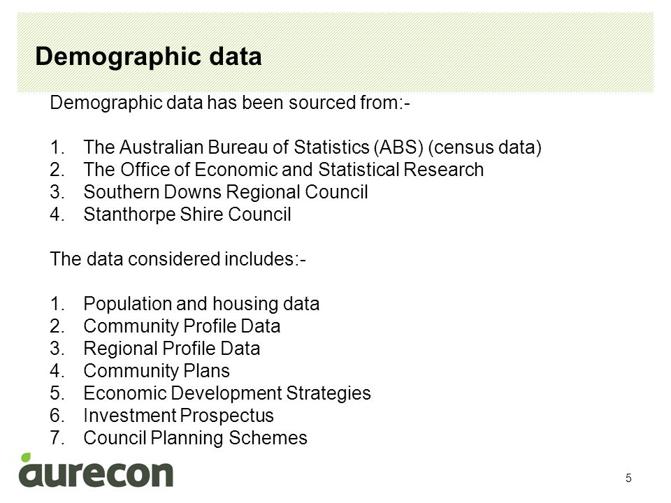 6 Demographic data The demographic analysis indicates that:- 1.In 2011 the resident population was 10,875 2.Population growth from 2006 has been approximately 1.3% 3.The future population growth is expected to be between 1% and 1.5% per annum.