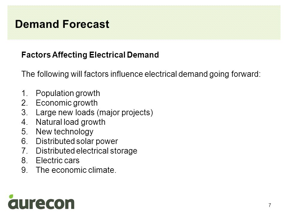 8 Demand Forecast – A review of the previous 10 years