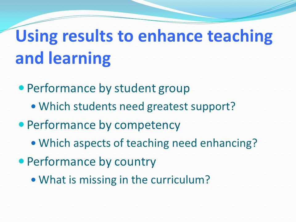 Insights from AHELO Measure learning outcomes internationally.