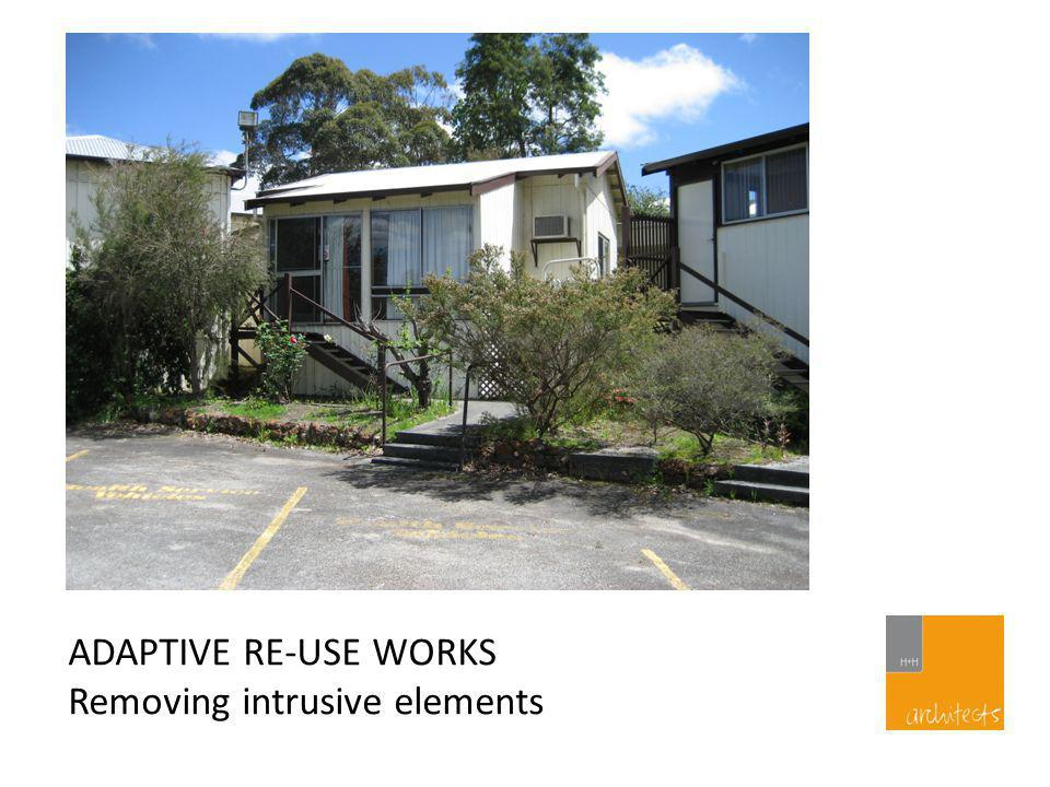ADAPTIVE RE-USE WORKS Reinstating facade