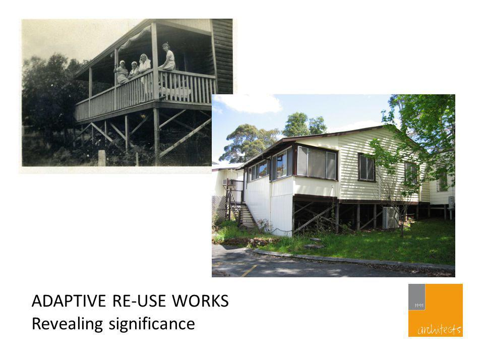 ADAPTIVE RE-USE WORKS Removing intrusive elements