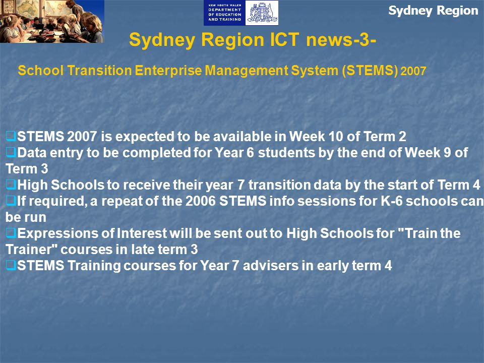 Sydney Region ICT update-1- Single Vendor for IBM-Compatible Desktop Computers Memorandum to: Principals and School Administrative Managers DN/07/00136 https://detwww.det.nsw.edu.au/inprincipal/sydney/2007-06- 01/SinglePCvendor.htm As of 1 June 2007 there is a single supplier for Desktop PC equipment: Lenovo