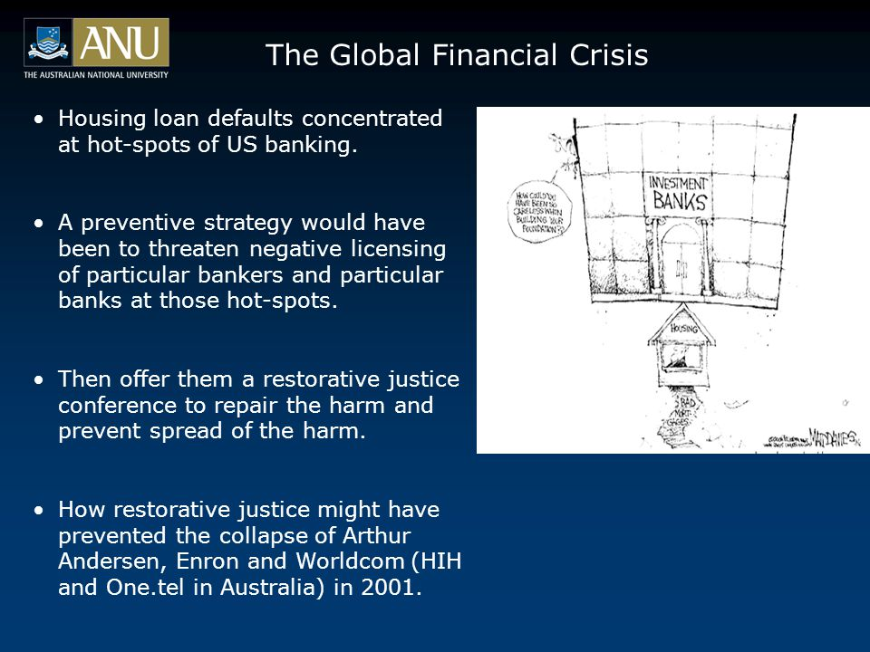 The Global Financial Crisis Housing loan defaults concentrated at hot-spots of US banking.