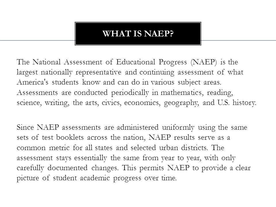 2011 National Assessment for Educational Progress 29% of Arizona 8 th graders below basic