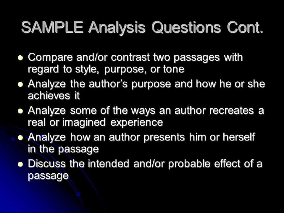 RHETORICAL STRATEGIES YOU MAY NEED TO ANALYZE (Structure) 1.