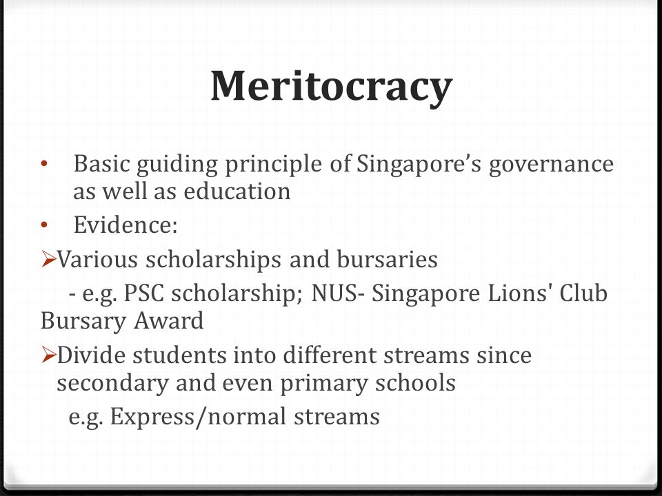 Meritocracy History of meritocracy  Originated from Ancient China  Confucianism: the first merit-based civil service system existed in the imperial bureaucracy of China  Spread from China to the West during the Enlightenment
