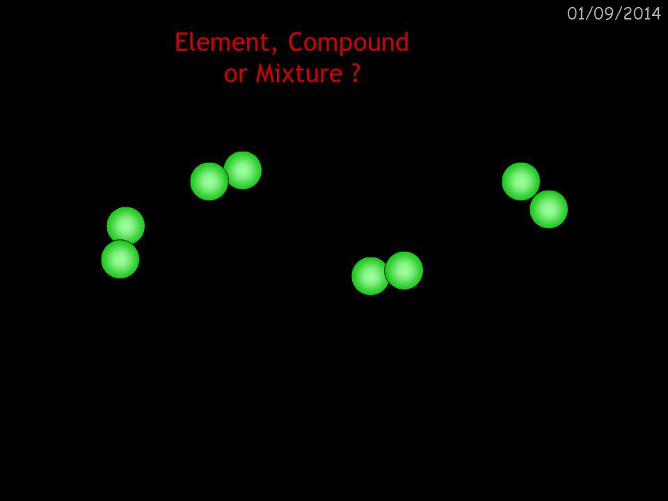 01/09/2014 Element, Compound or Mixture ? Element