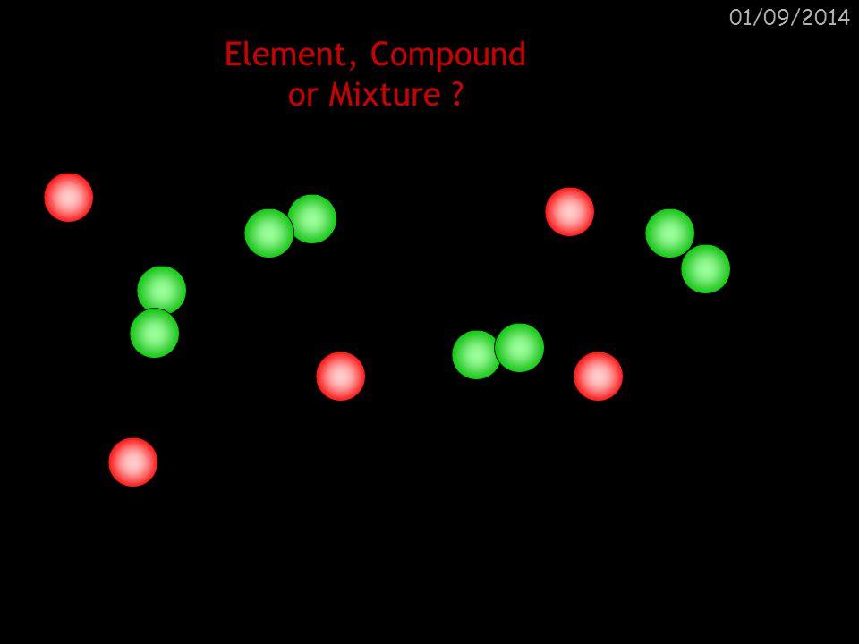 01/09/2014 Element, Compound or Mixture ? Mixture