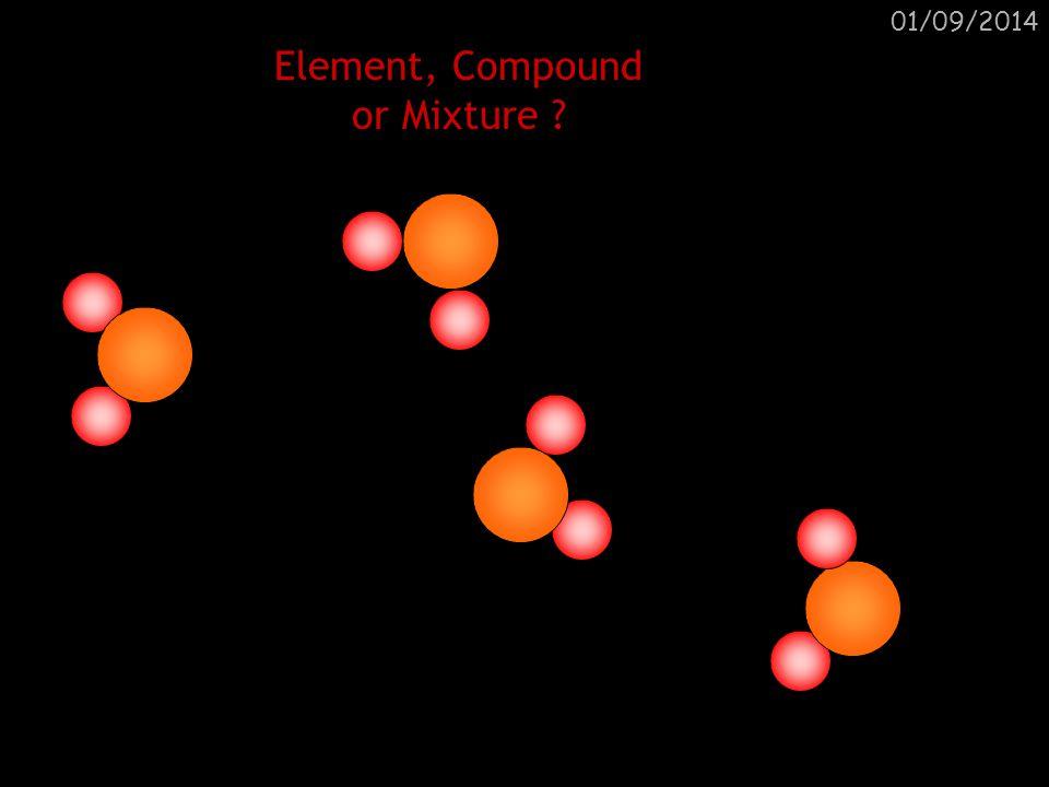 01/09/2014 Element, Compound or Mixture ? Compound