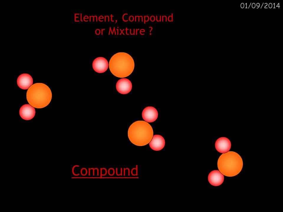 01/09/2014 Element, Compound or Mixture ?