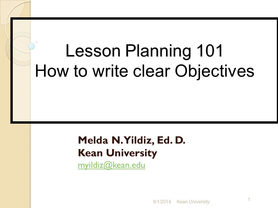 There are three essential elements of a lesson plan: Objectives--what students will be able to do as a result of the lesson Procedures--what the teacher will do to get the students there Evaluation opportunities--what the teacher can do to see if the lesson was taught effectively: watching students work, assigning application activities, getting feedback, etc.