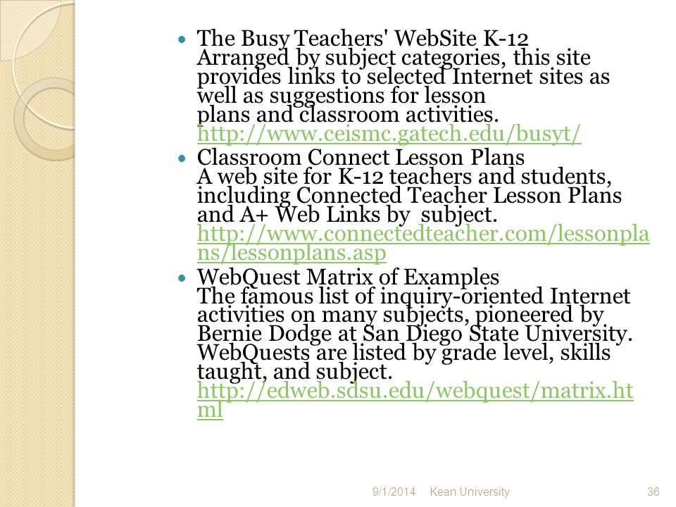 The Gateway to Educational Materials This search engine for lesson plans allows you to select a grade level and search the full text of lessons for that age group.