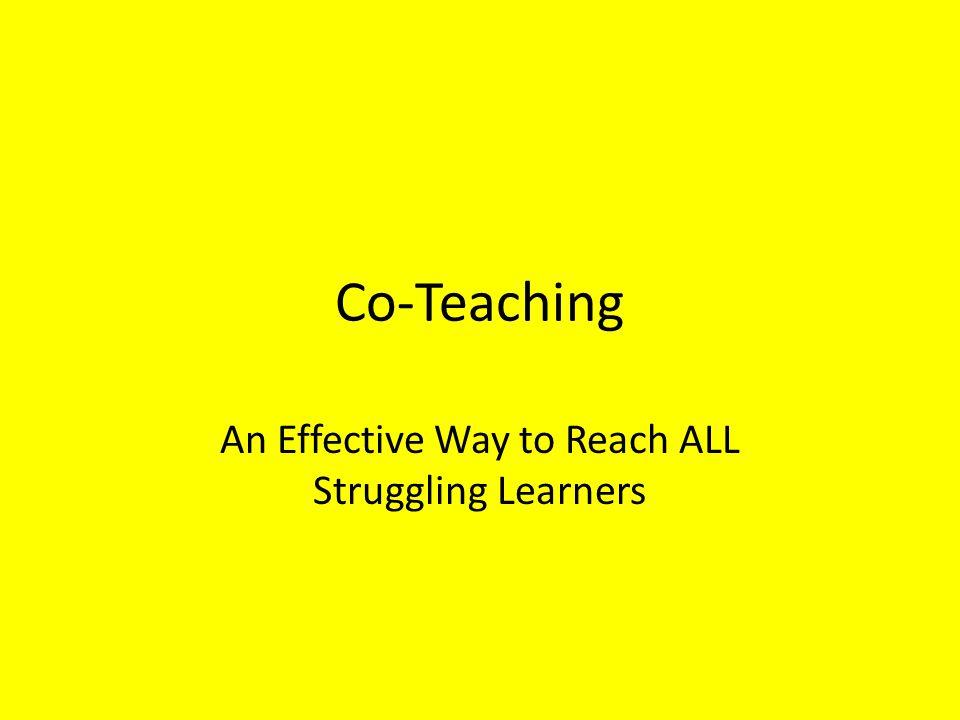 Co-Teaching Debate Benefits Two teachers in the classroom.
