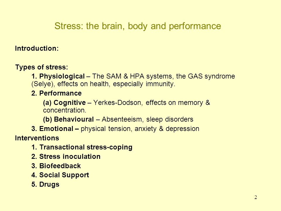 3 Defining stress Stress is hard to define because it depends on the situation.