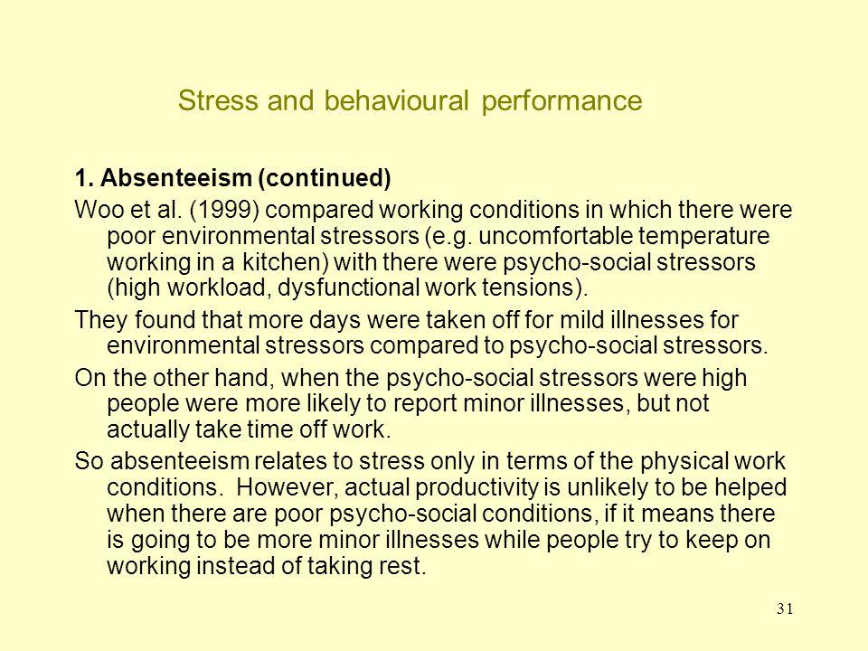 32 Stress and behavioural performance 2.Sleep disruption States et al.