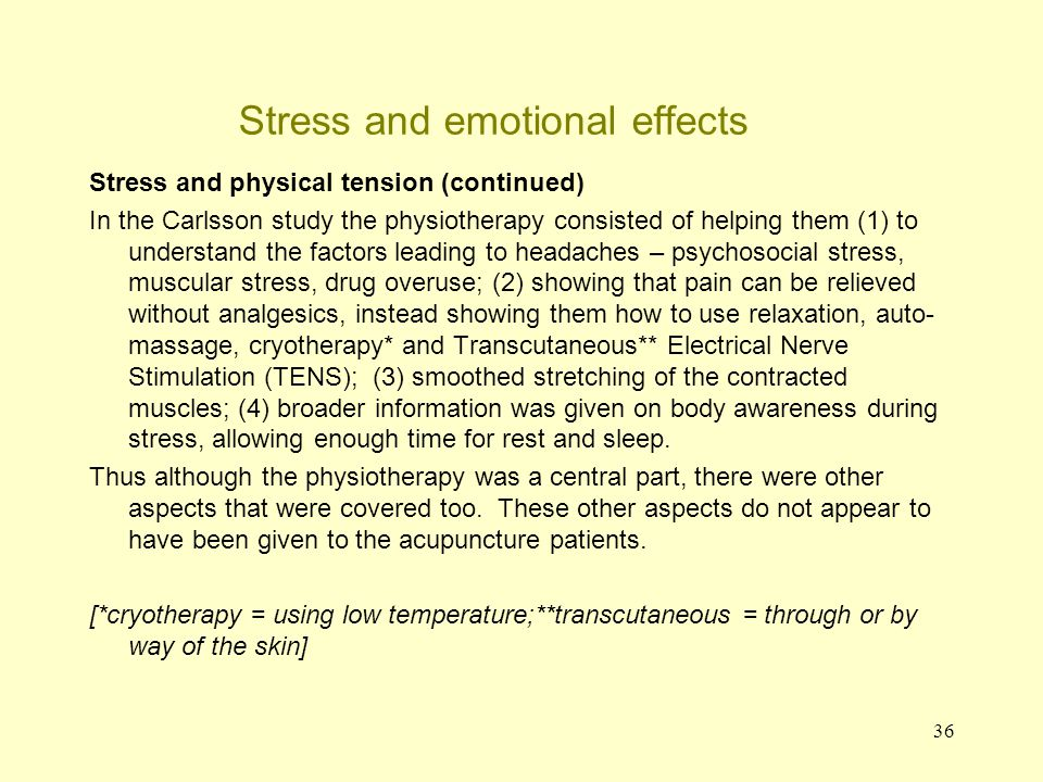37 Stress: the brain, body and performance Topics that have been covered Types of stress: 1.