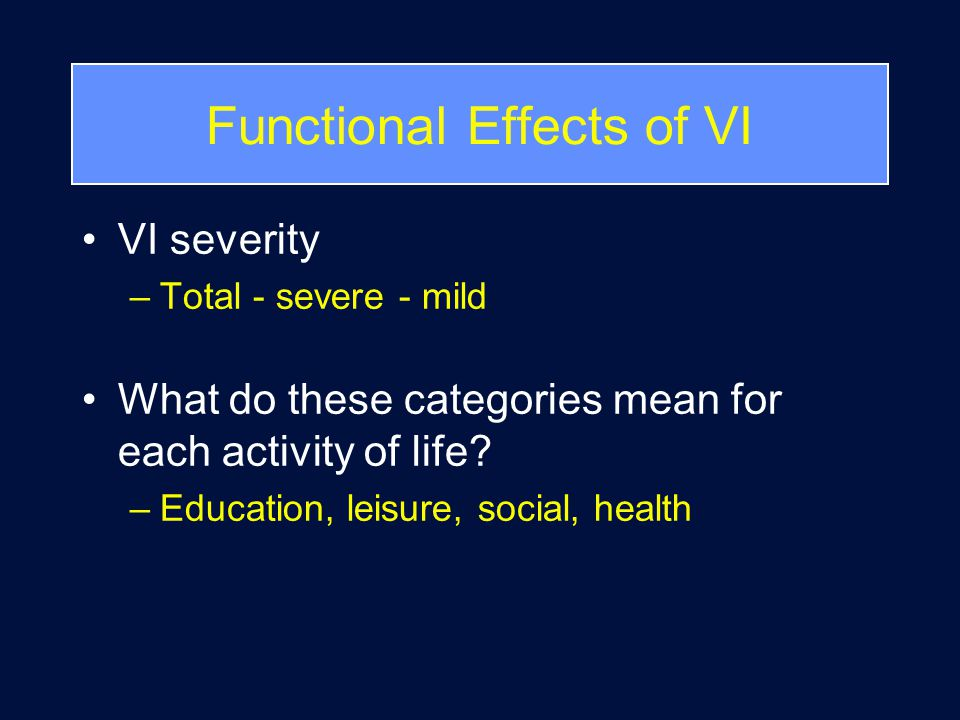 What is Functional Vision .