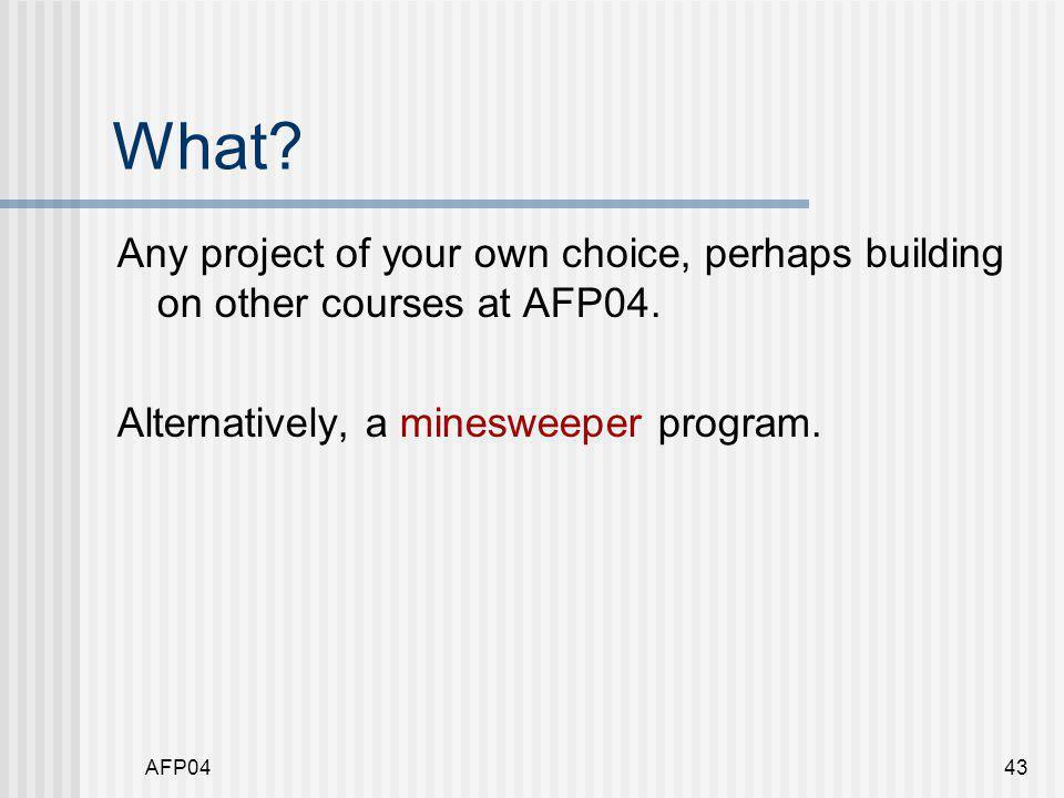 AFP0444 Minesweeper
